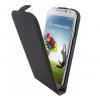 Mobiparts Flip Case Leder Galaxy S4 Schwarz